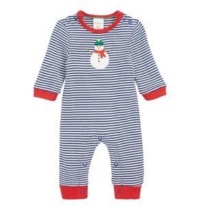 NWT Mini Boden Snowman Jersey Romper (Baby)